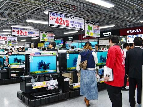 移転増床した「ヨドバシカメラ マルチメディア仙台」。オープン後の店内
