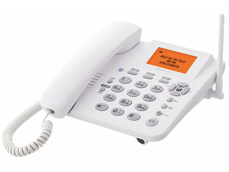 宮城県の各種施設に導入されたウィルコムのPHS電話機「イエデンワ<WX02A>」