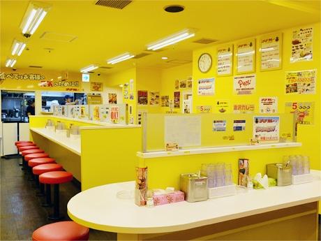 「ゴーゴーカレー」仙台中央スタジアムの店内。場所は「中央レントビル」地下1階