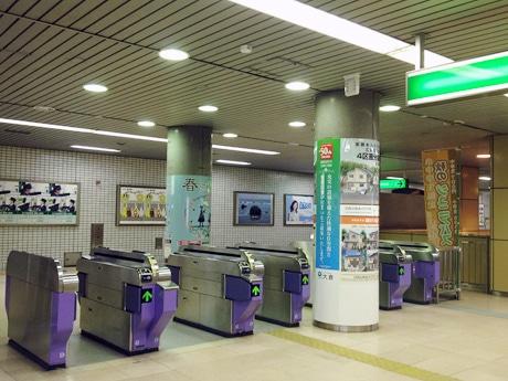 仙台市地下鉄南北線・長町南駅の改札口。2014年度にIC乗車券の導入を予定する