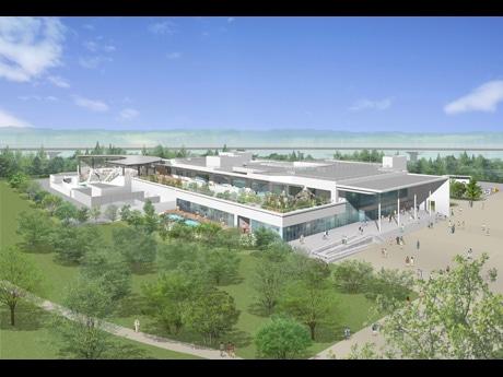 2015年春の開業目指す「仙台水族館」外観イメージ