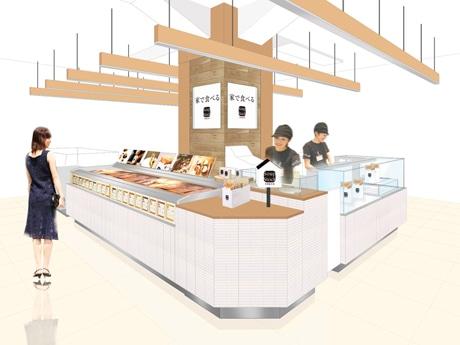 「家で食べるスープストックトーキョー」仙台三越店イメージ。店頭では試食やスープを活用したレシピの提案も
