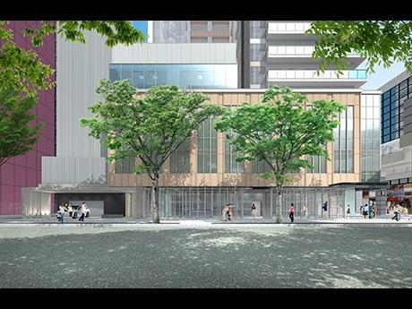 「シリウス・一番町」イメージパース。仙台初進出を含む15店舗超が出店する