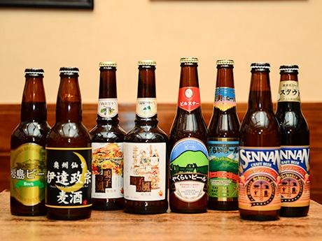 イベントで提供する4醸造所のビールの一部