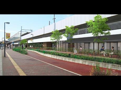 商業施設開業後の長町駅東側のイメージ