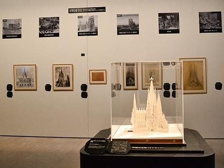ガウディの人生の集大成ともいえるサグラダ・ファミリアに焦点を絞った「3章 ガウディの魂-サグラダ・ファミリア」の展示