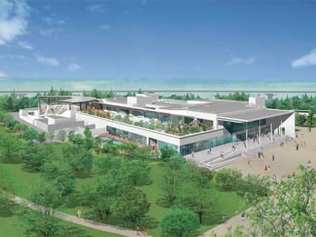 7月1日に開業する「仙台うみの杜水族館」外観イメージ