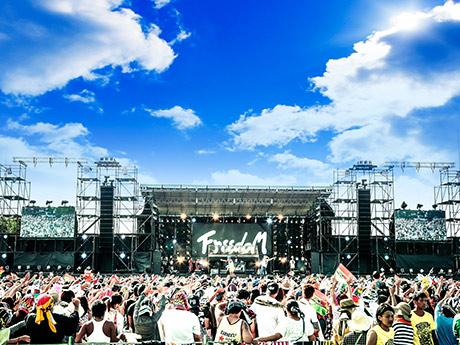 3会場で計6万人以上を動員した昨年の「FREEDOM aozora」の様子