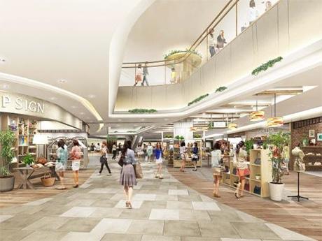 「エスパル仙台」新館2階ファッションゾーンのイメージ