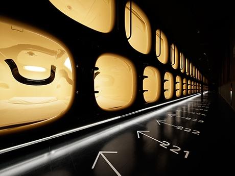 ナインアワーズ仙台のカプセルユニット ©Nacasa & Partners