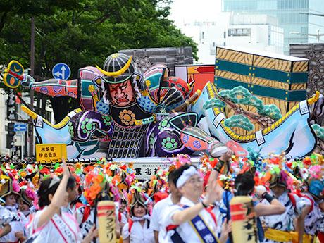東北絆まつりパレードの「青森ねぶた祭り」