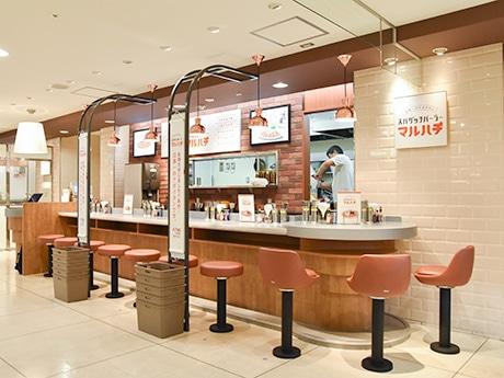 仙台三越地下1階にオープンした「日本一のナポリタン/スパゲッチパーラーマルハチ」