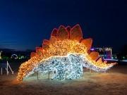 せんだい農業園芸センターでイルミイベント LED12万球で「恐竜と虹の国」演出