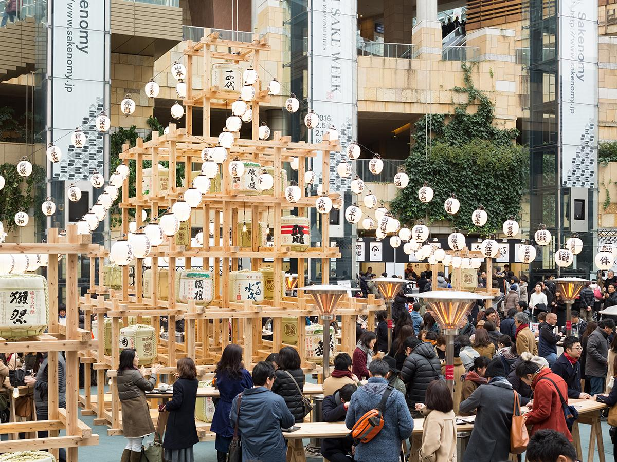 2016年に東京・六本木で初開催された「CRAFT SAKE WEEK」の様子 Photo takumi Ota