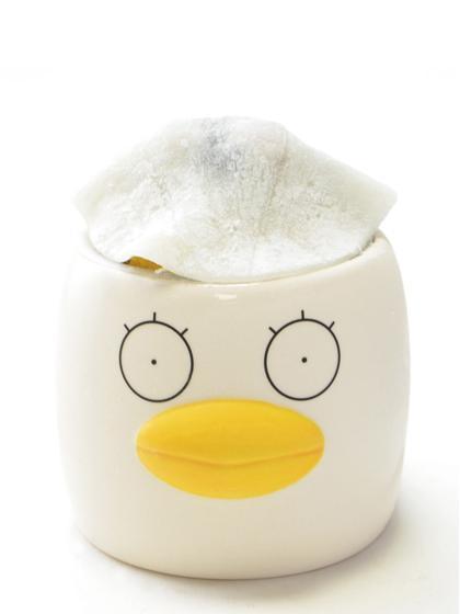 エリザベスの姿をあしらったカップに入った「ごちそうさまでした!!エリザベスのプリン」 ©空知英秋/集英社・テレビ東京・電通・BNP・アニプレックス
