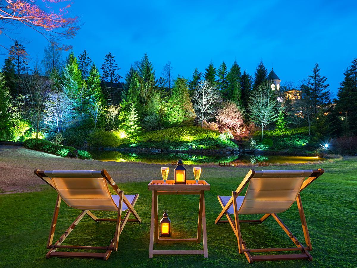 ライトアップされたガーデンと星空を眺めながら楽しむ仙台ロイヤルパークホテルのビアガーデン