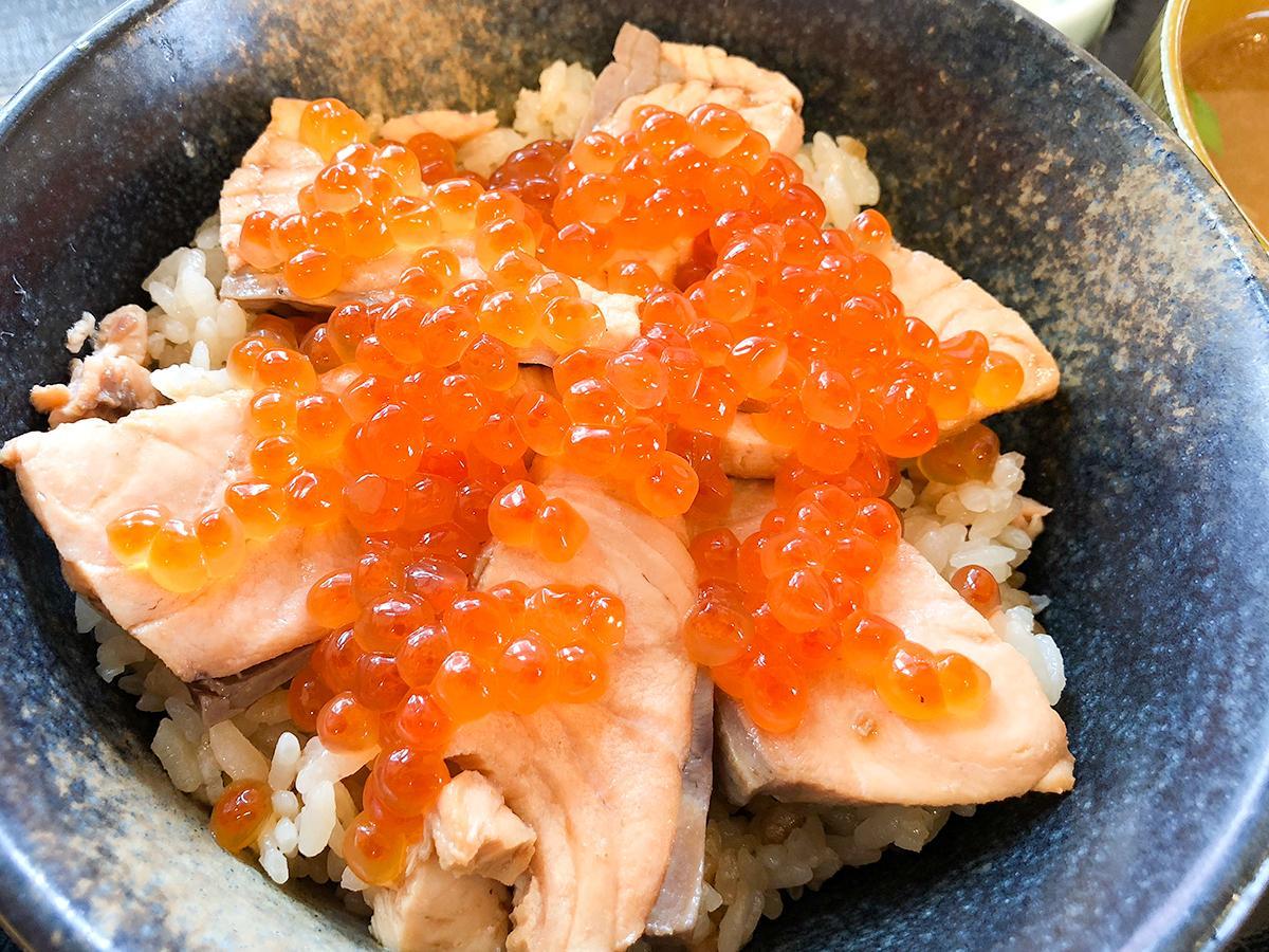 「魚屋hide菊地食品」のはらこめし定食(1,600円)