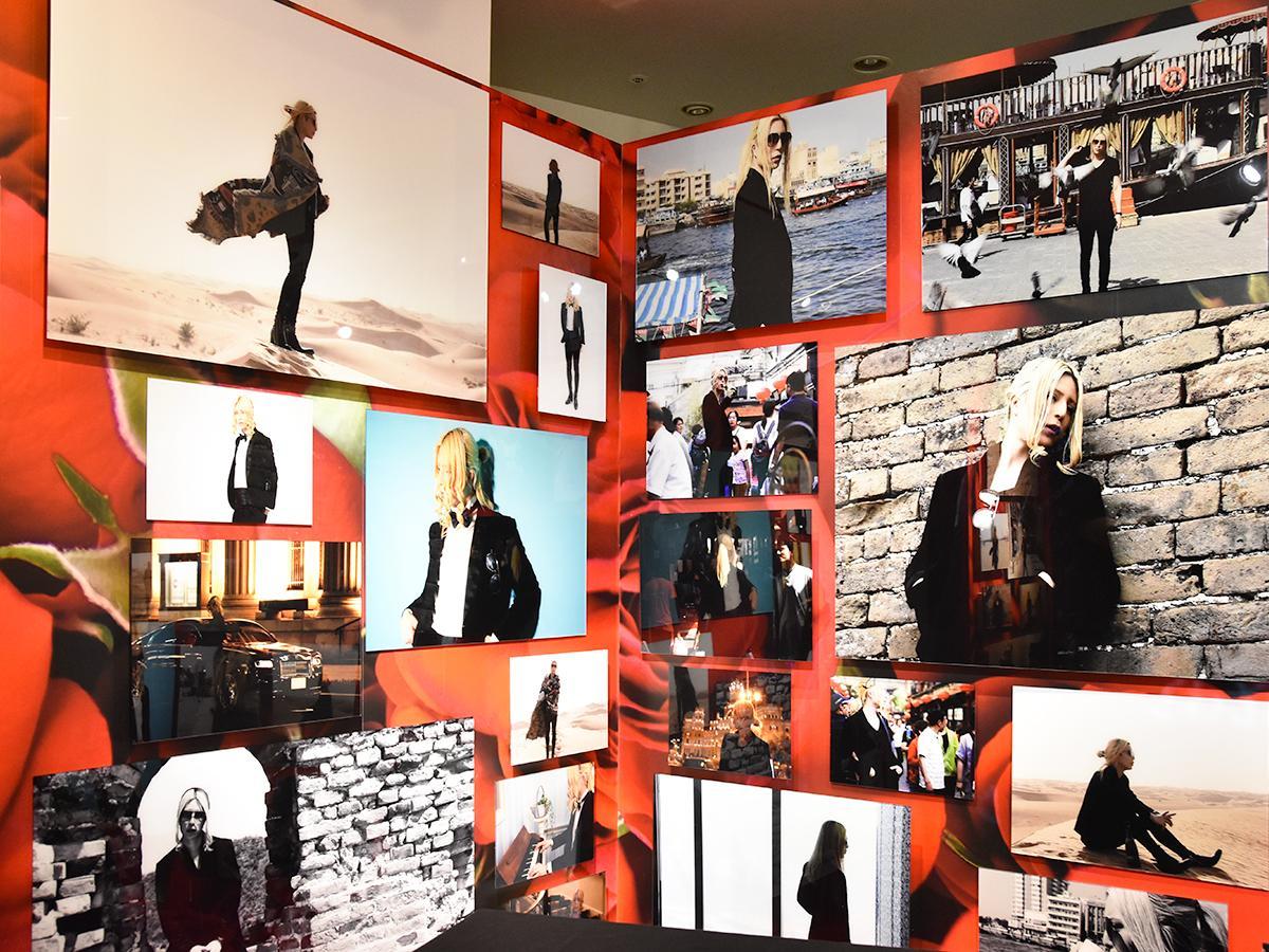 ローランドさんの写真で埋め尽くされた「ローランド写真館」