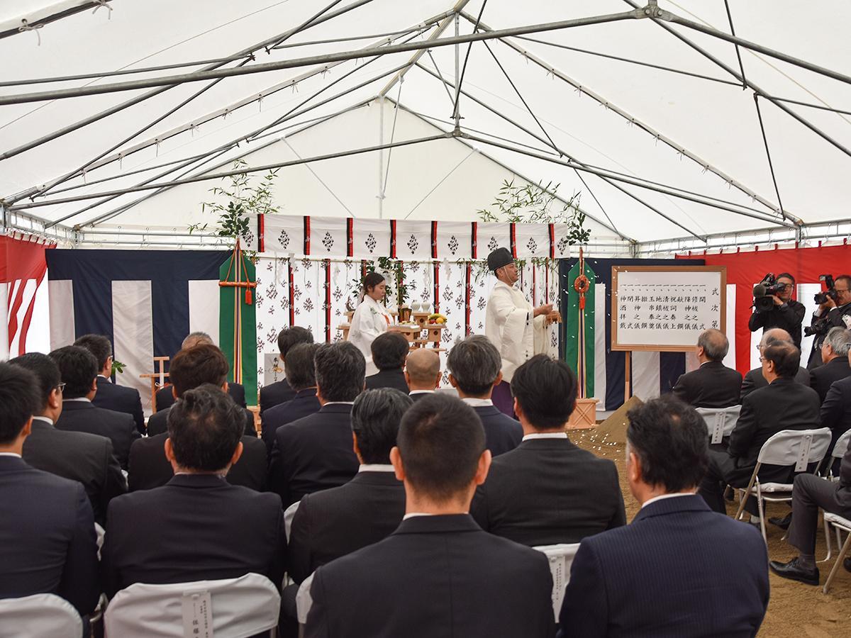 10月25日に行われた地鎮祭の様子