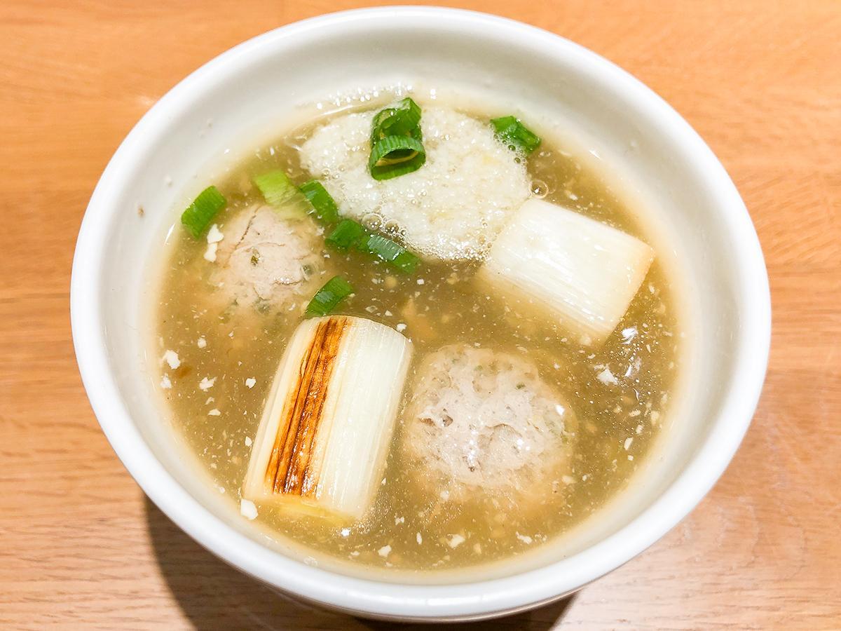 11月8日まで提供される女川産さんまのつみれスープ