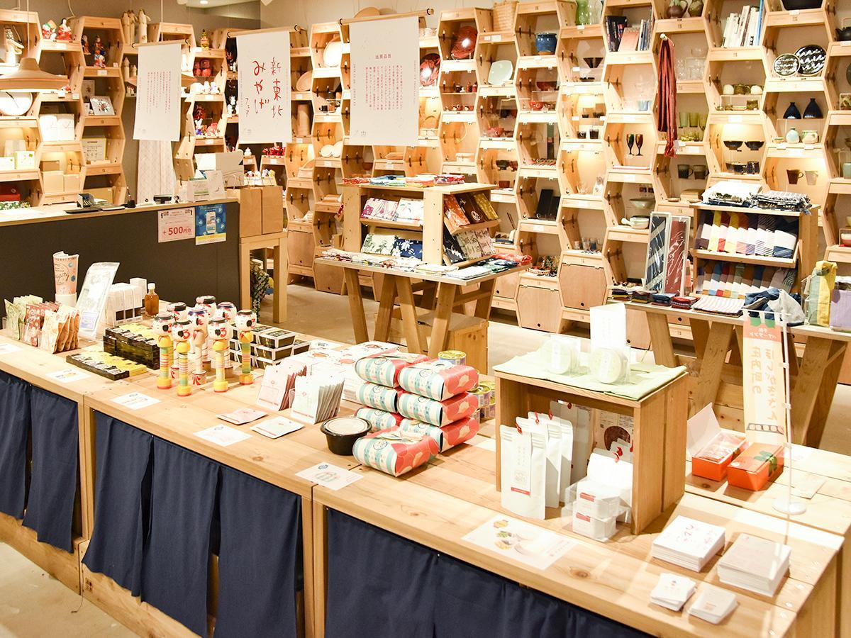 「新東北みやげフェア」コーナー(写真手前)が設けられた東北スタンダードマーケット仙台PARCO2店