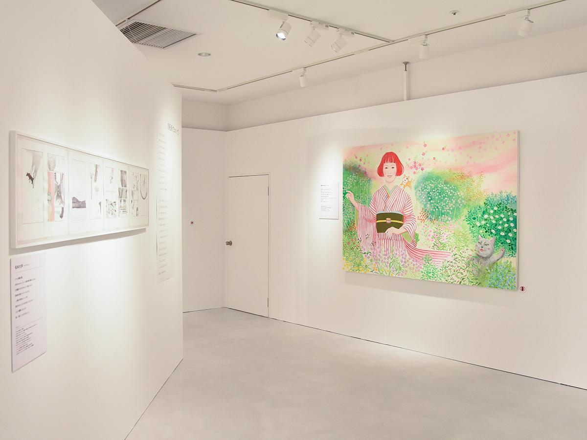 糸井さんと矢野さんが手掛けた楽曲をイメージした作品が並ぶ会場の様子
