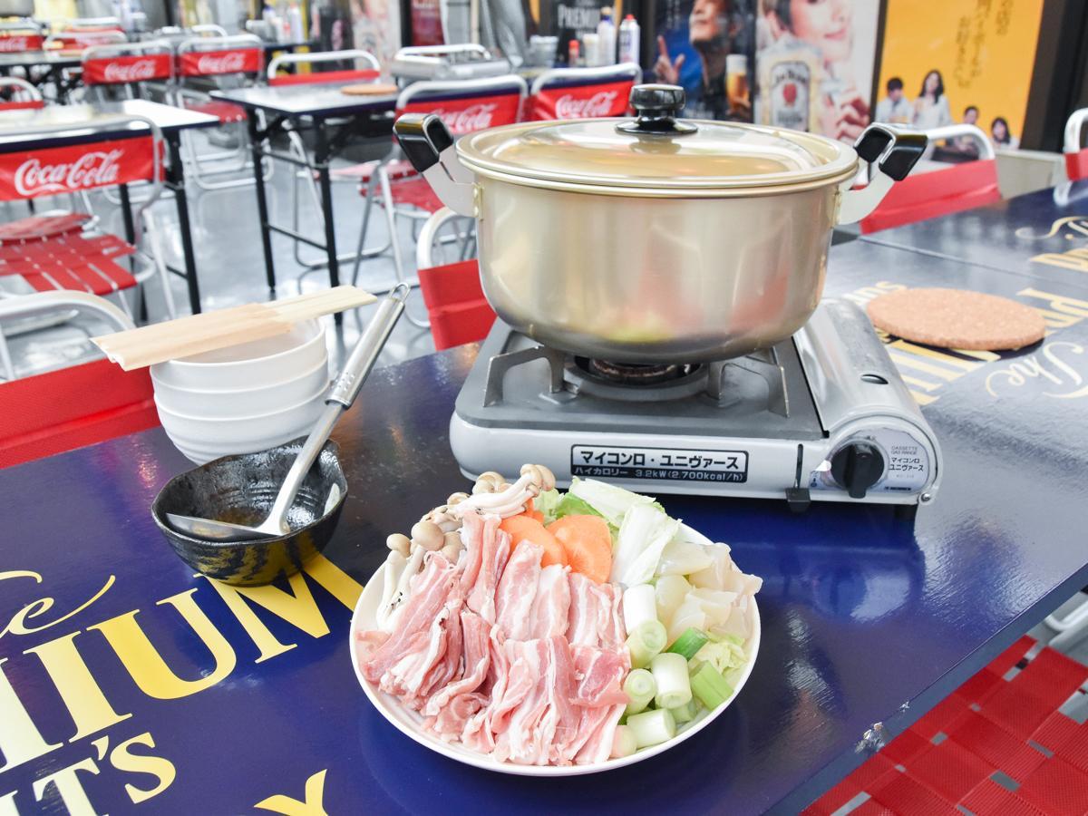 豚肉を使うみそ味の仙台風芋煮。写真は3人前