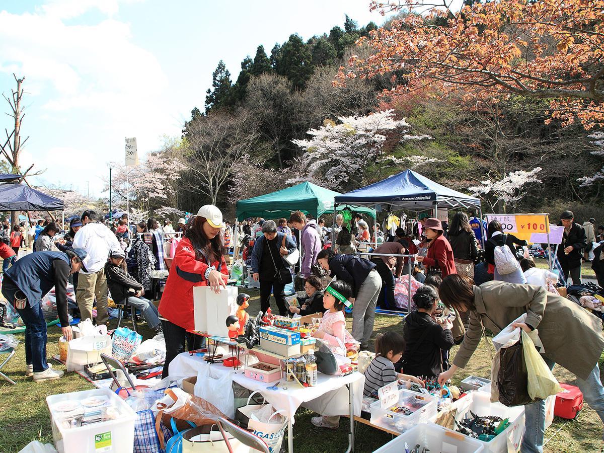 台原森林公園で開かれていた「KHBフリーマーケット」。写真は2010年の様子