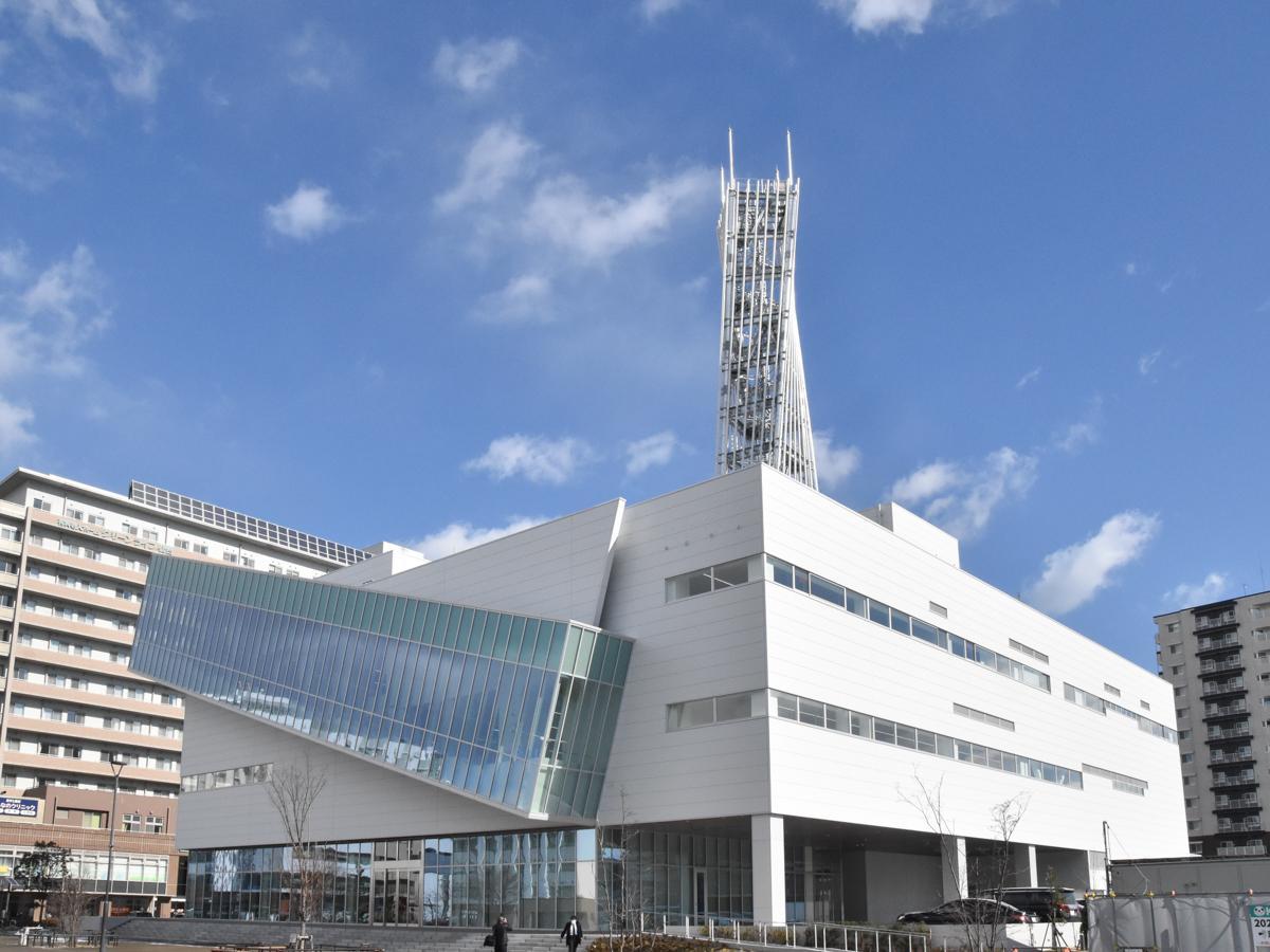 あすと長町に完成した東日本放送の新社屋