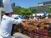 仙台・勾当台公園市民広場で「食肉まつり」 県産黒毛和牛の丸焼きなど無料試食