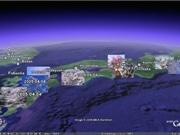 「Google Earth」投稿マッピングで桜前線を可視化