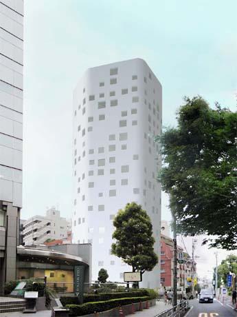 青山「こどもの城」近くに複合ビル-設計は青木淳氏(写真=完成イメージ)