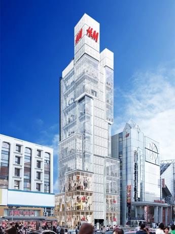 欧州カジュアル衣料「H&M」が日本に進出(写真=原宿店の完成イメージ)