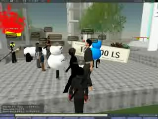 3D仮想都市「セカンドライフ」内のビジネスコンテストで結果発表(写真=授賞式の様子)