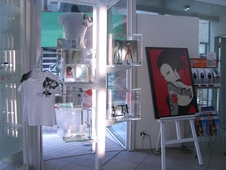 7日にリニューアルしたKDDIデザイニングスタジオ1階にオープンした「THE BOX SHOP」