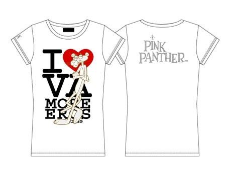 商品イメージ(写真=人気ブランド「ヴァンキッシュ」とのコラボTシャツ)THE PINK PANTHER TM &©1964-2007 Metro-Goldwyn-Mayer Studios Inc. All Rights Reserved.