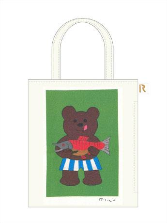 安西さんのかるたイラストをあしらった限定トート(写真)は100枚限定で販売