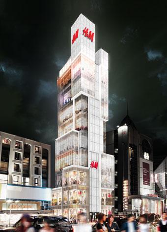 「H&M」原宿直営店の完成イメージ