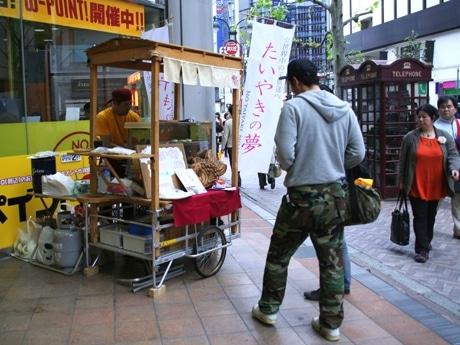 タワーレコード渋谷店敷地の一角で営業する「たいやきの夢」