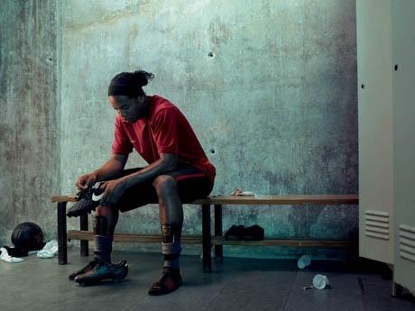 7月1日、代々木公園サッカー場に登場するロナウジーニョ・ガウーショ選手
