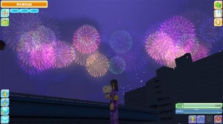 ミート・ミー内(トランスコスモス社屋)での花火大会イメージ