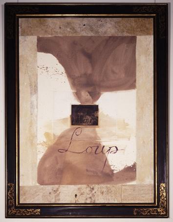 ジュリアン・シュナーベルさんの初公開作品「オオカミ」(1987年)