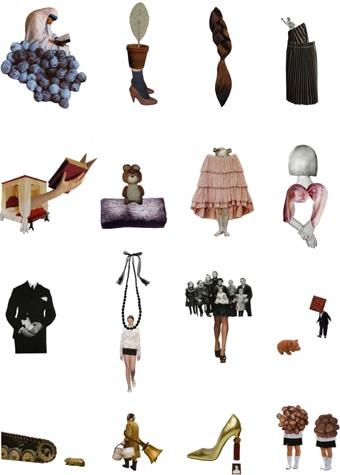 「Art and Design of Sasaki san 佐々木美香のコラージュアートとデザインの世界」展のメーンビジュアル