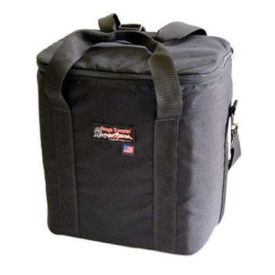 約40枚のレコードを収納できる「タフレコードバッグ」。内部の背部分には内ポケットを設ける