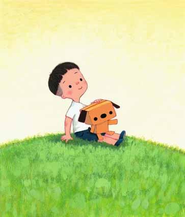 絵本「ぼくとハコイヌ-ハコイヌおたんじょう-」より ©SUGAR