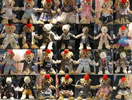 限定販売される28体の「クマ」(「NOZOMI ISHIGURO」2009年春夏コレクションより)