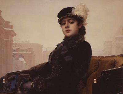 イワン・クラムスコイ「忘れえぬ女(ひと)」(1883年、油彩・キャンヴァス)©The State Tretyakov Gallery