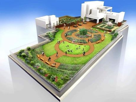 屋上庭園には初の貸菜園も。ウッドデッキも整備し「憩いの場」を目指す(写真=イメージ)