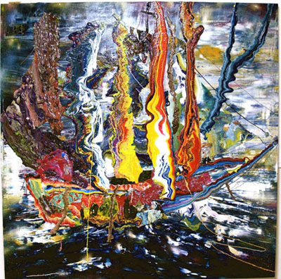 「炎上し、儚き想い出を照らす涙の船」(2009年=写真)は、「ノアの箱舟」がモチーフ ©杉田陽平