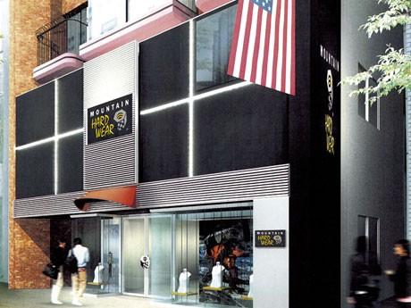 原宿にオープンする「マウンテンハードウェア原宿店」のファサードイメージ。日本初の旗艦店では約200アイテムを扱う